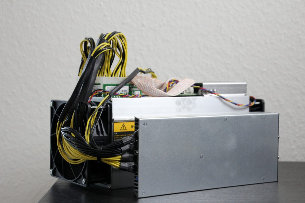 An Antminer device for Bitcoin mining