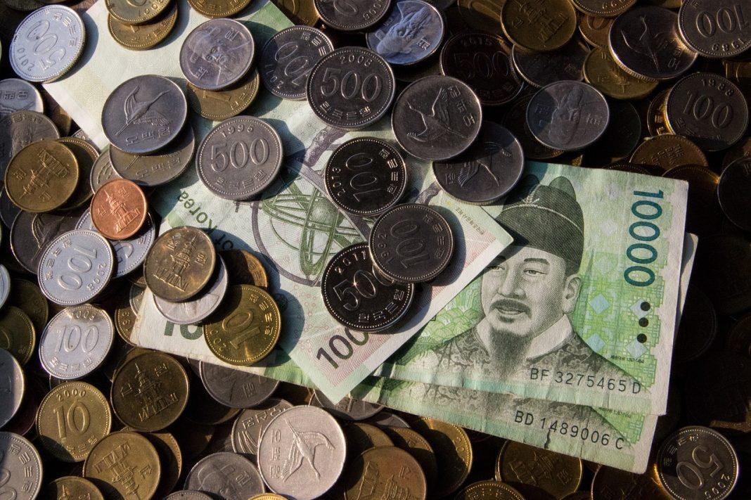 Cash Pile in Korean Won