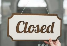 A Closed Sign