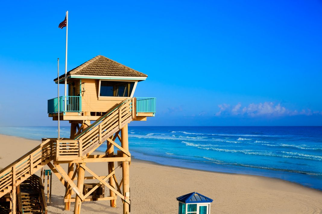 A watch tower in Daytona Beach