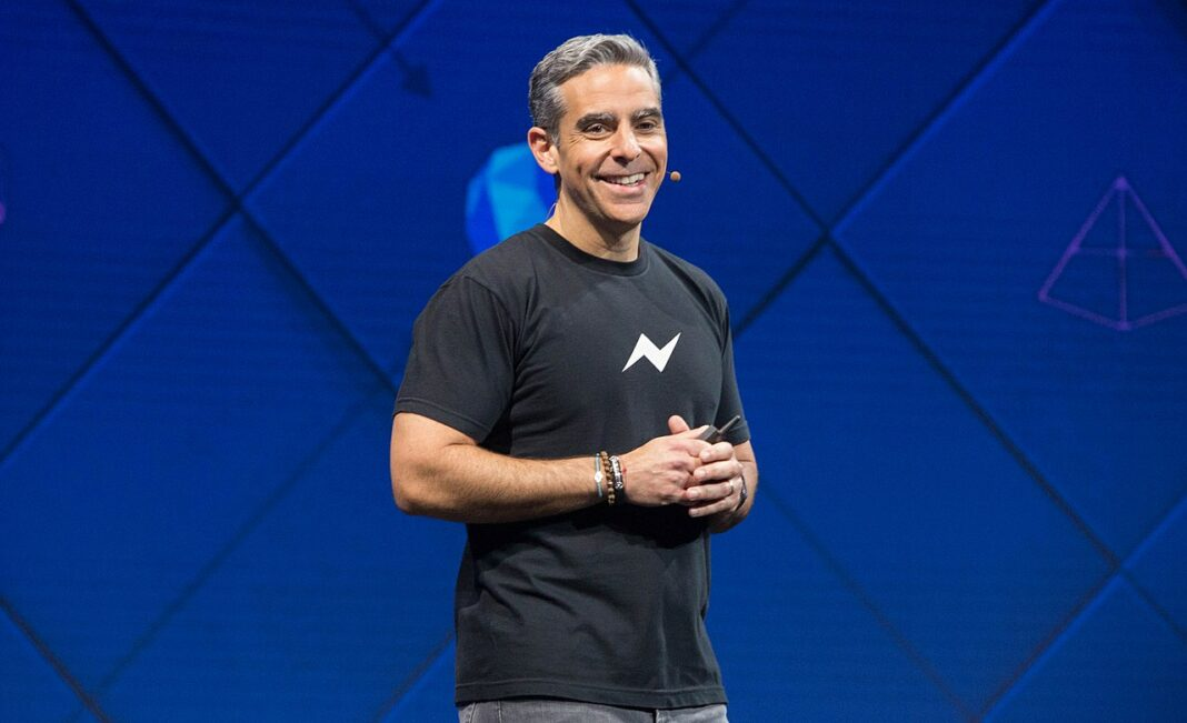 David Marcus, head of the Libra project, speaking at the Facebook F8 Developers conference