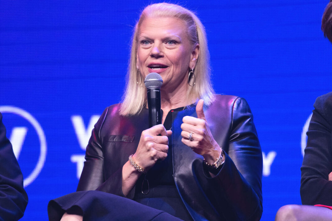 The chairman, president and CEO of IBM, Virginia Rometty