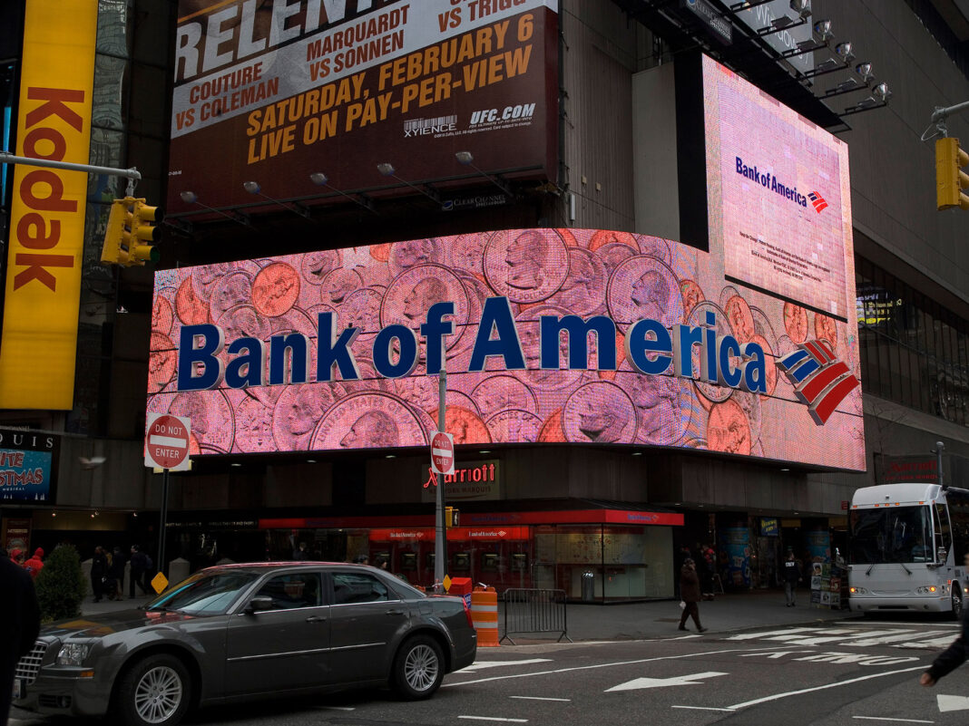 Bank of America ad in New York