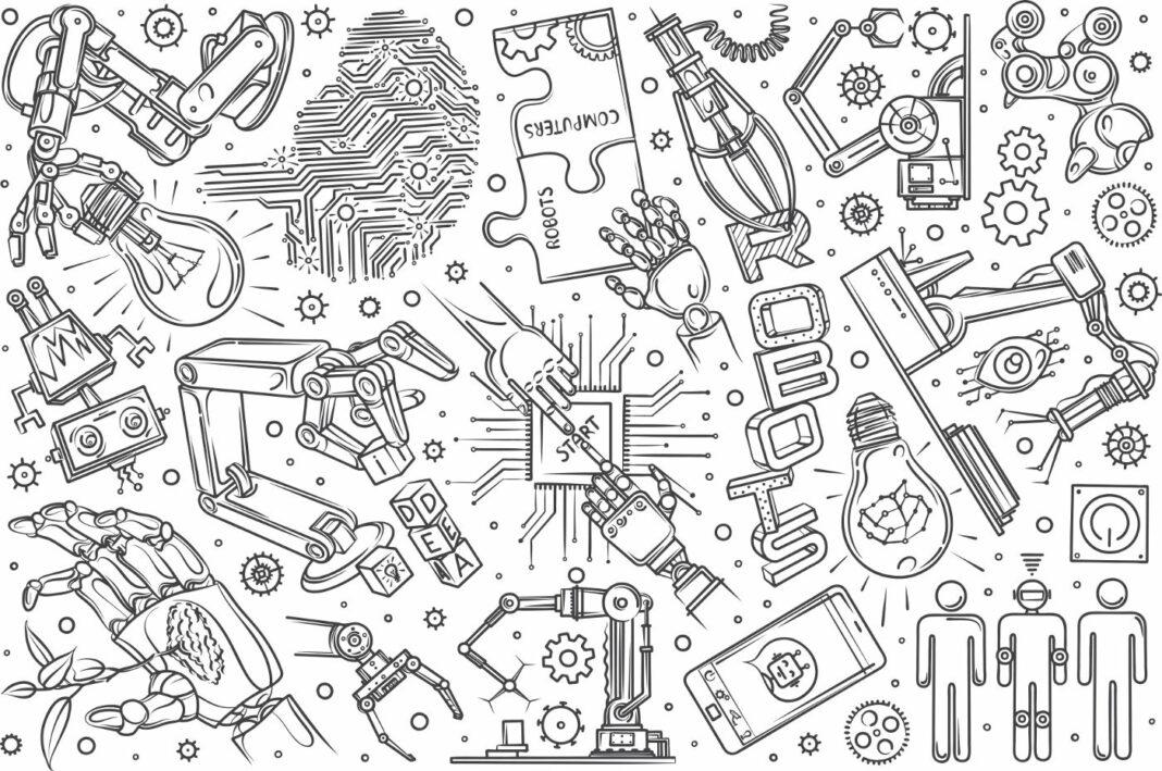 Hand drawn robotics set
