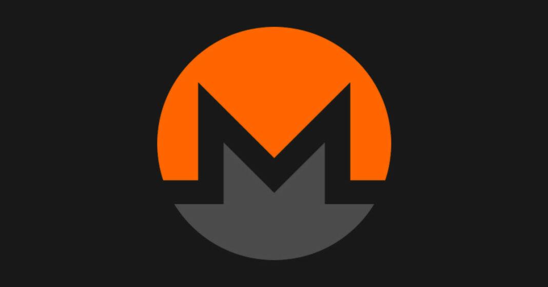 Monero logo on black background