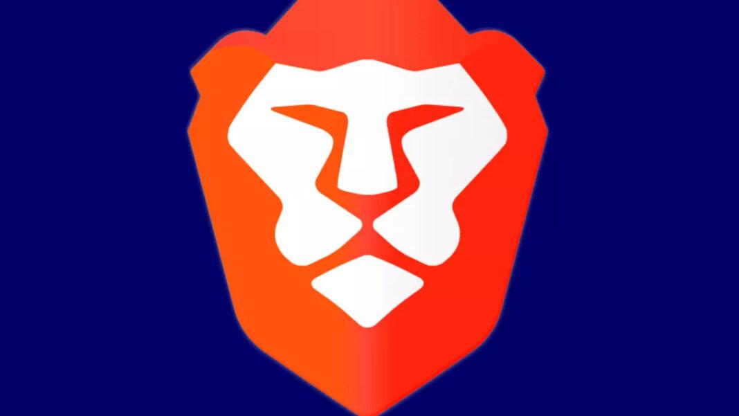 Brave browser logo on dark navy background