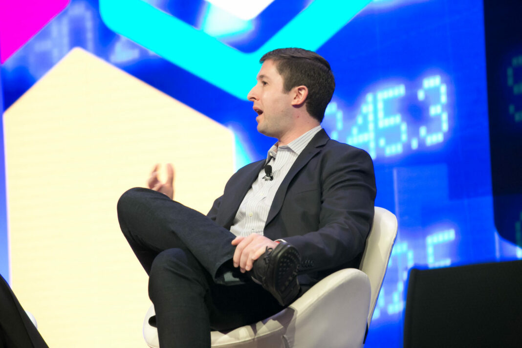 Michael Sonnenshein, Managing Director at Grayscale, speaking at a CoinDesk conference