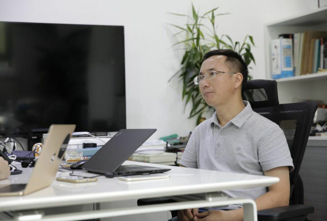 A photo of Micree Zhan, former co-founder and co-CEO of Bitmain Technologies