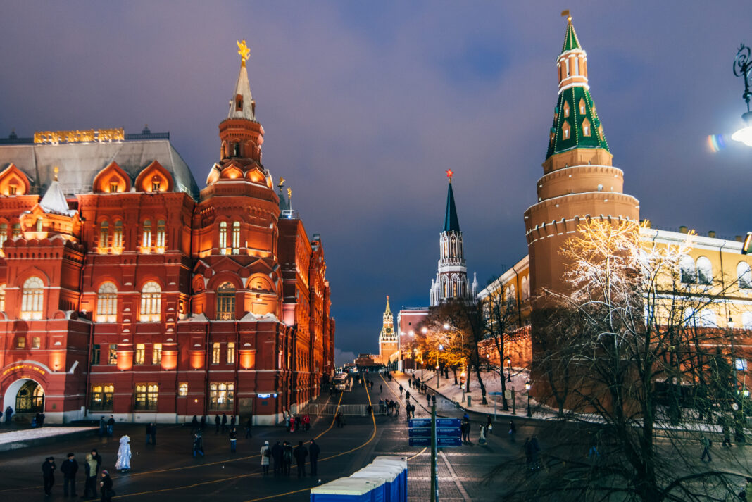 Red square and state historical museum in Moscow, Russia