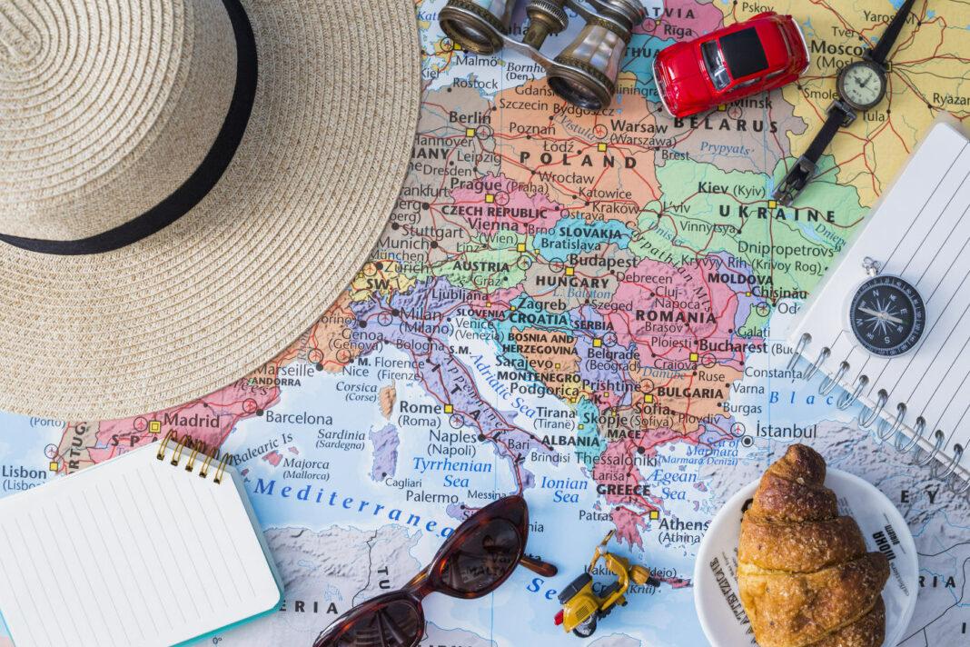Travel composition concept