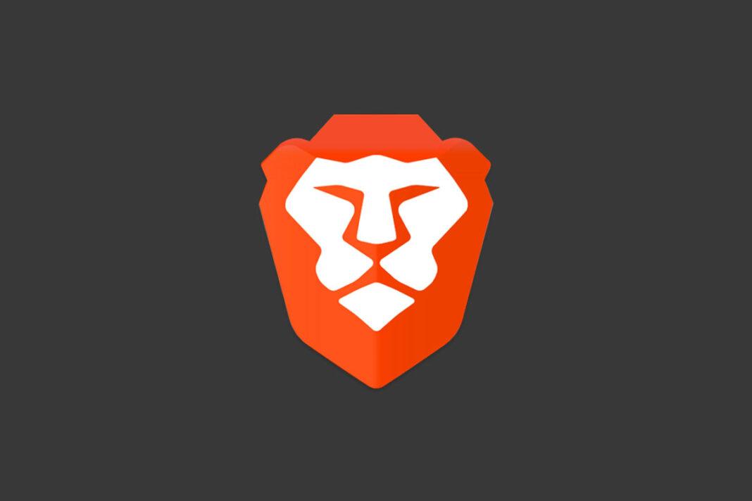 Brave logo on a dark background