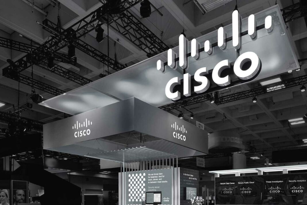 Cisco booth at an event