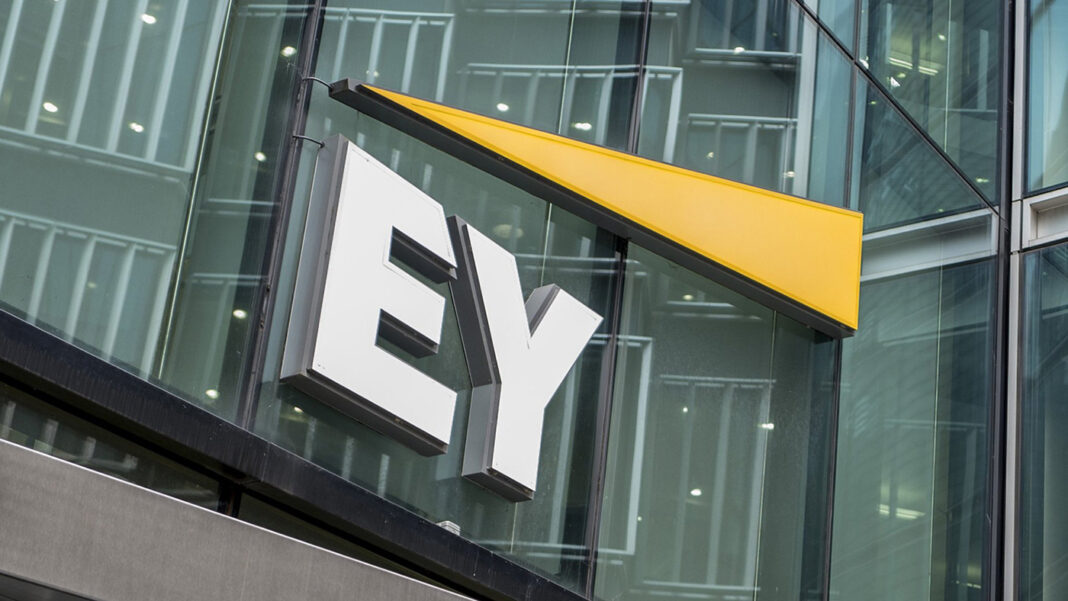 Ernst & Young logo on a building
