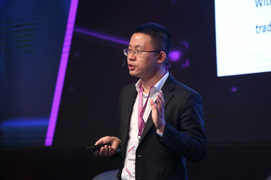 Yuming Yuan, CEO of Huobi Research, talking about new trends and use cases for blockchain tech