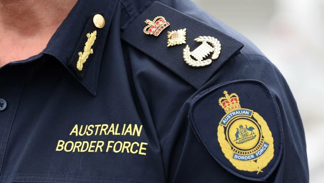 Closeup of the uniform of an officer in the Australian Border Force