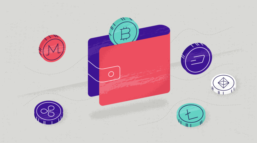Crypto wallet concept illustration