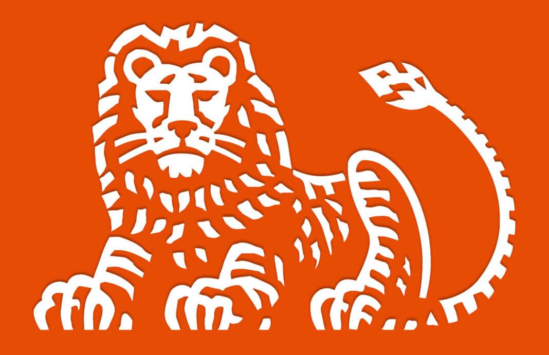 ING logo on an orange background