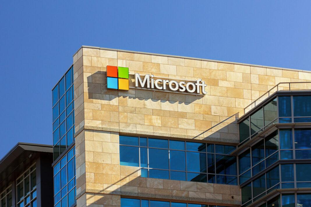 Microsoft corporate building in Santa Clara California