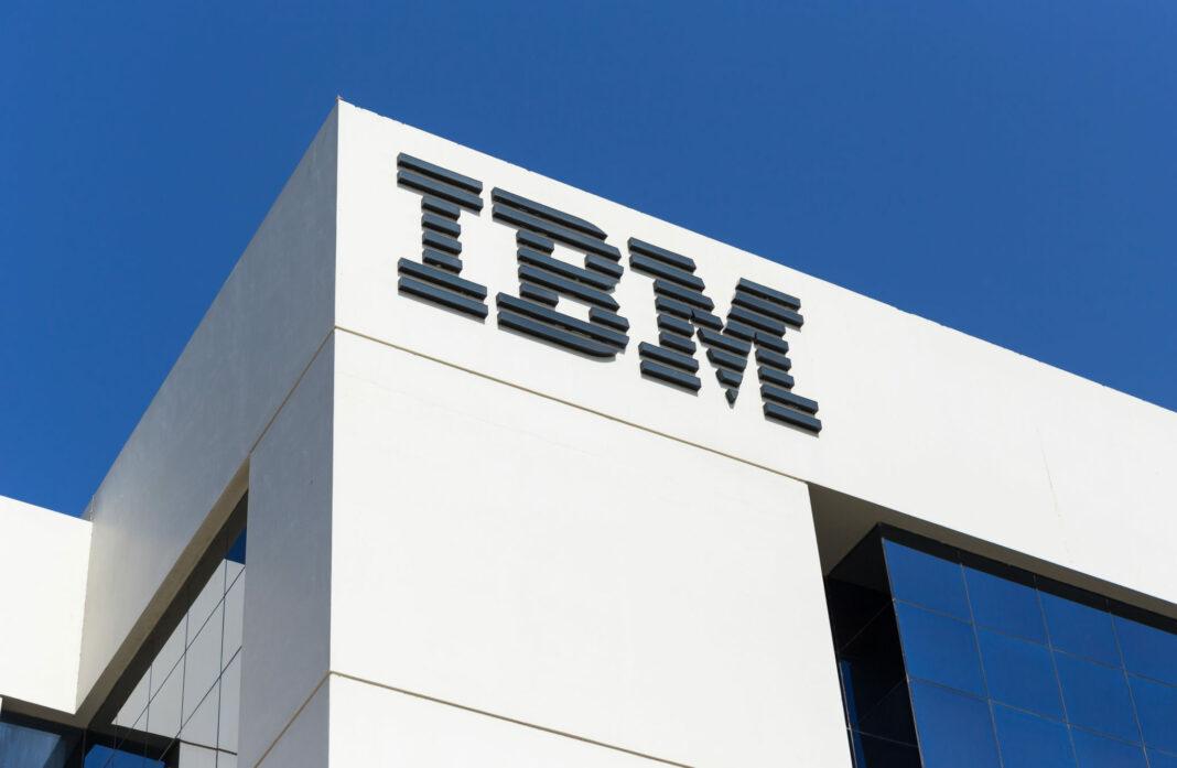 IBM logo on a building