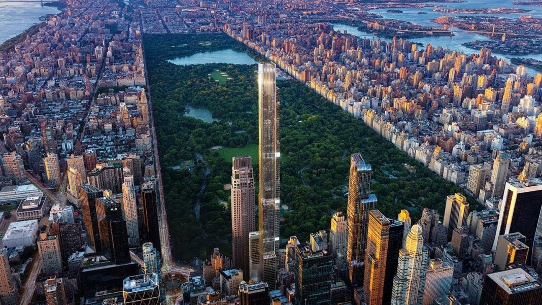View of Central Park in Mahnattan, New York
