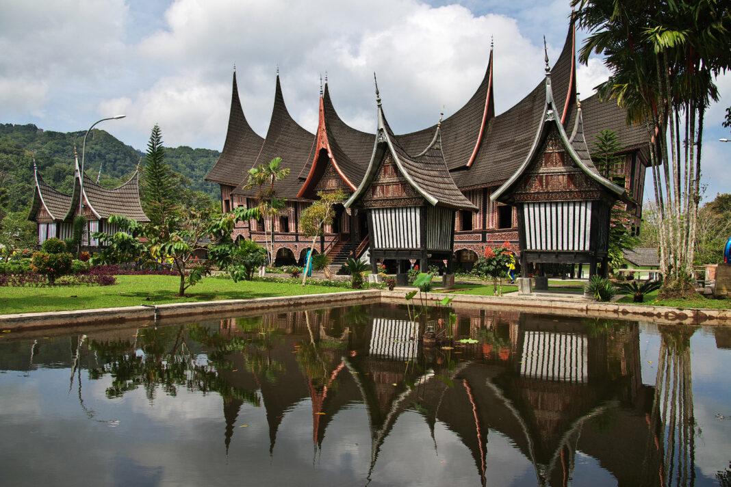 The temple of Sumatra Island in Indonesia