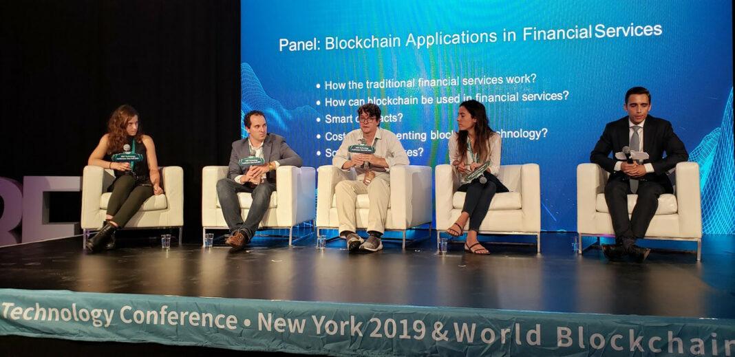 Kadena founder Stuart Popejoy speaking at the World Blockchain Forum