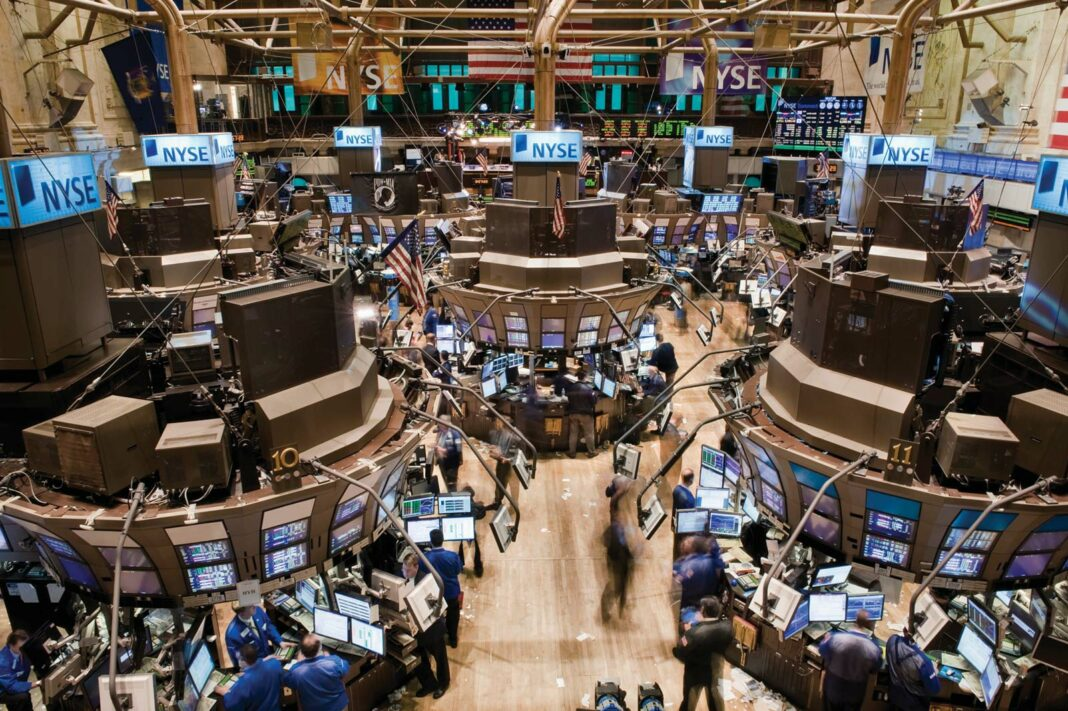 Trading floor of the New York Stock Exchange in New York City