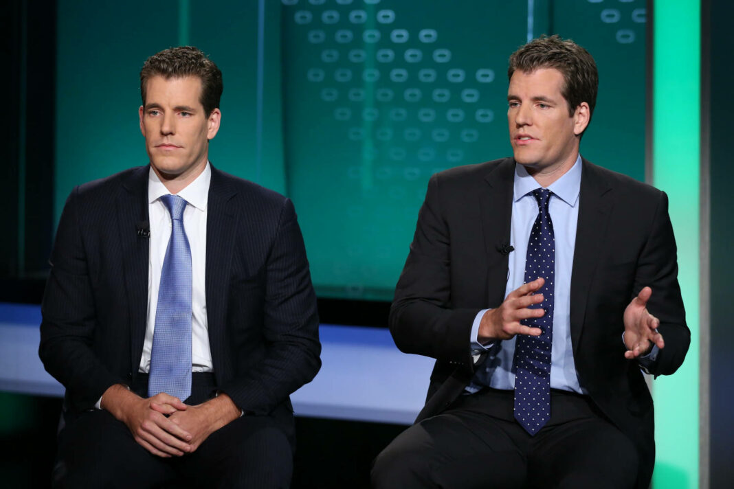 The Winklevoss twins speaking in an interview