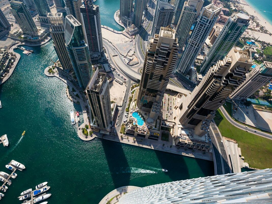 Bird's-eye view of Dubai, United Arab Emirates