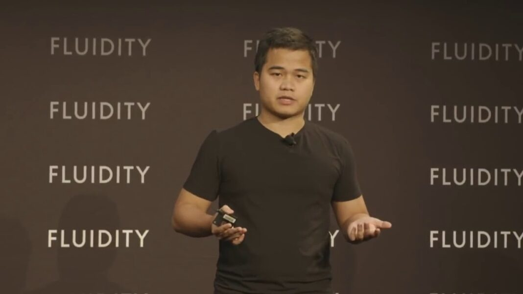 Loi Luu, co-founder of Kyber Network, speaking at Fluidity 2019 in May