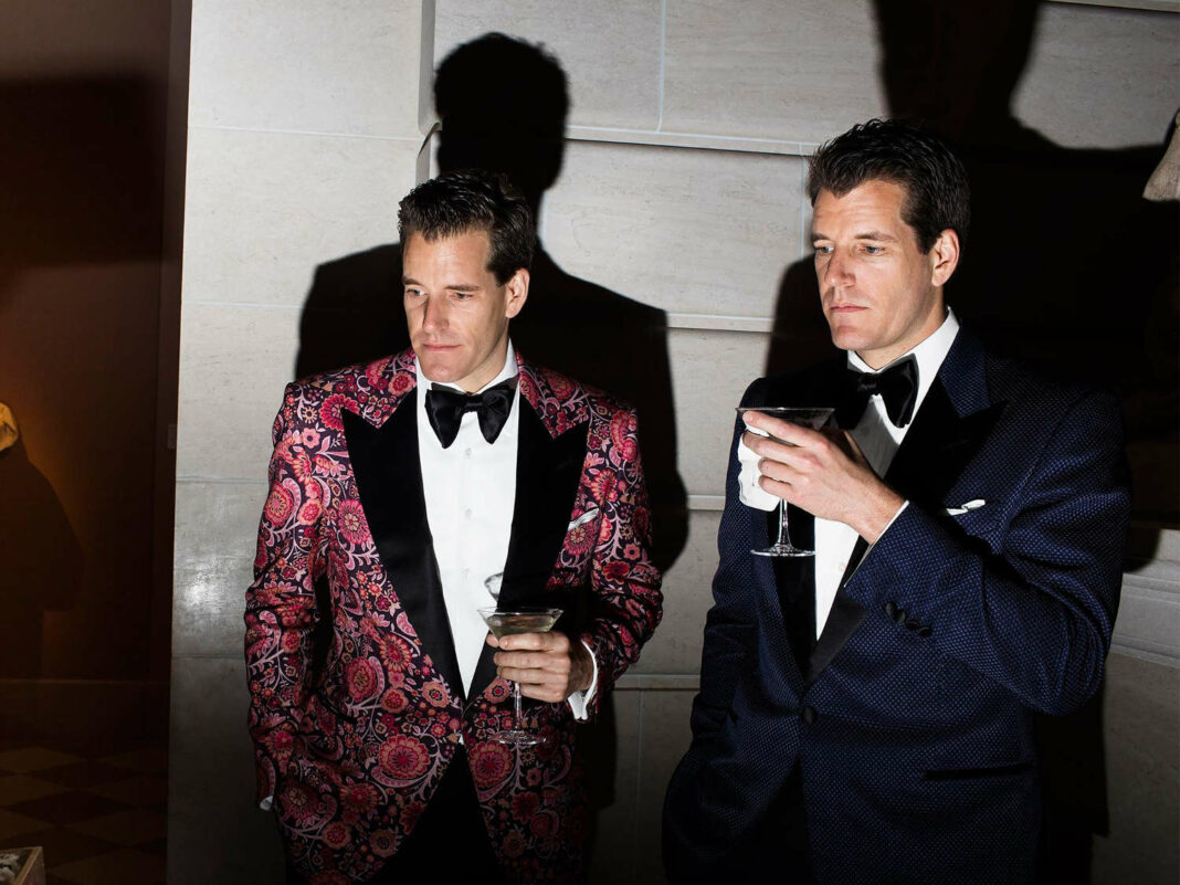 Cameron Winklevoss (left) and Tyler Winklevoss attend the 2017 Met Gala, at New York City's Metropolitan Museum of Art
