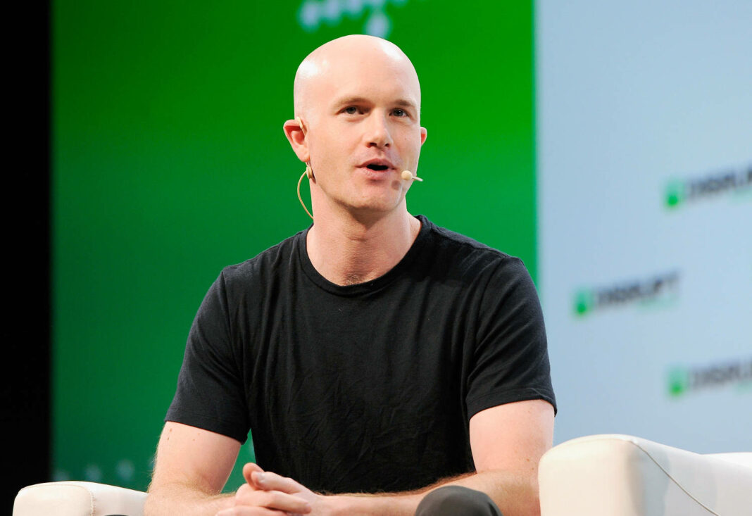Coinbase co-founder and CEO Brian Armstrong speaking at TechCrunch Disrupt SF 2018