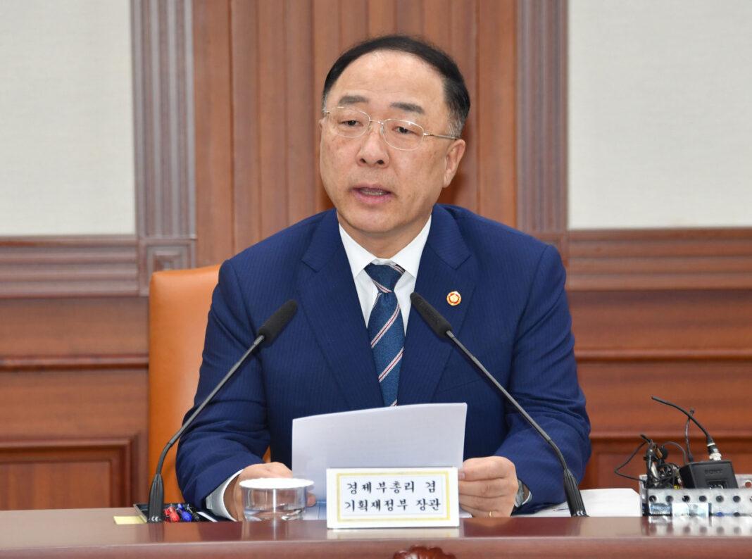 South Korean Deputy Prime Minister and Finance Minister Hong Nam-ki