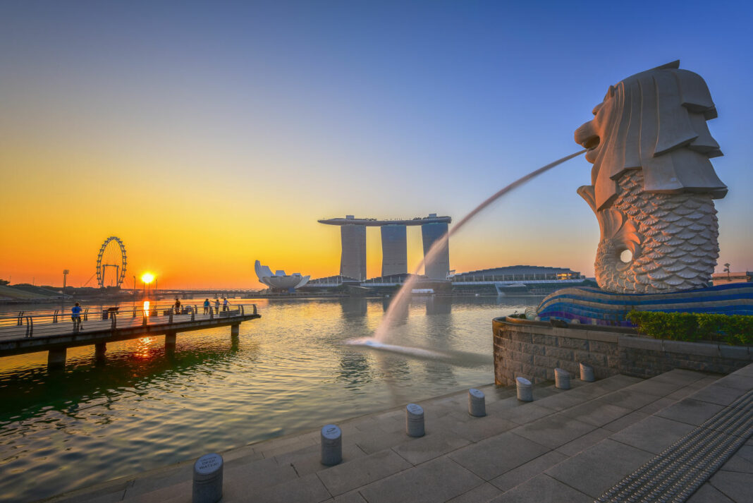 Singapore Marina Bay sunrise cityscape