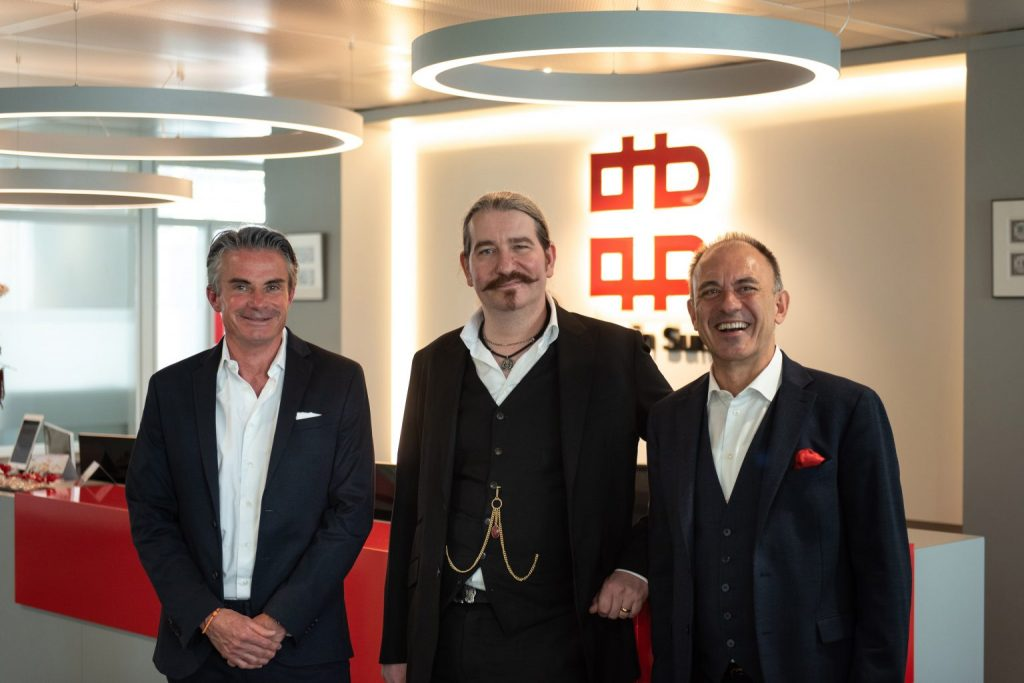 From left: Bitcoin Suisse board member Roger Studer, chairman and founder Niklas Nikolajsen, and board member and CEO Dr. Arthur Vayloyan