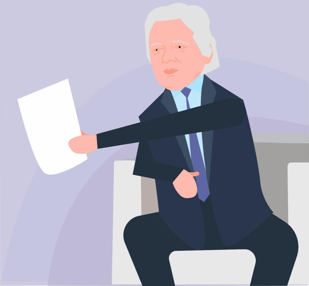 Illustration of WikiLeaks founder Julian Assange