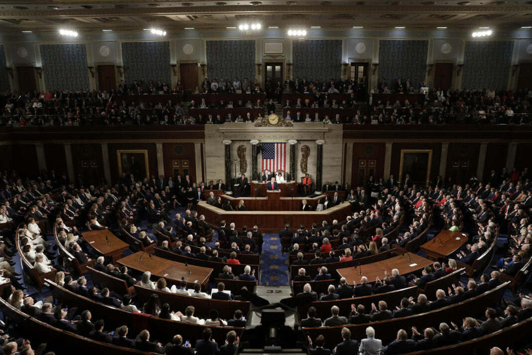 U.S. President Donald Trump delivers the State of the Union address