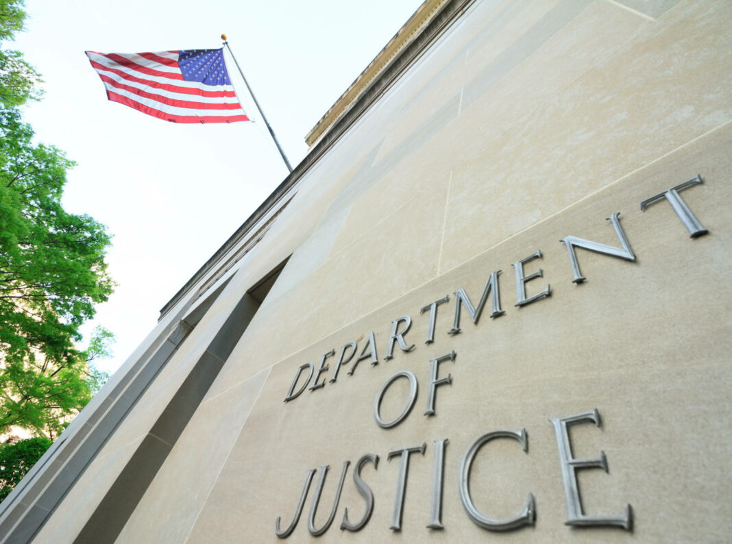The northern facade of the Department of Justice