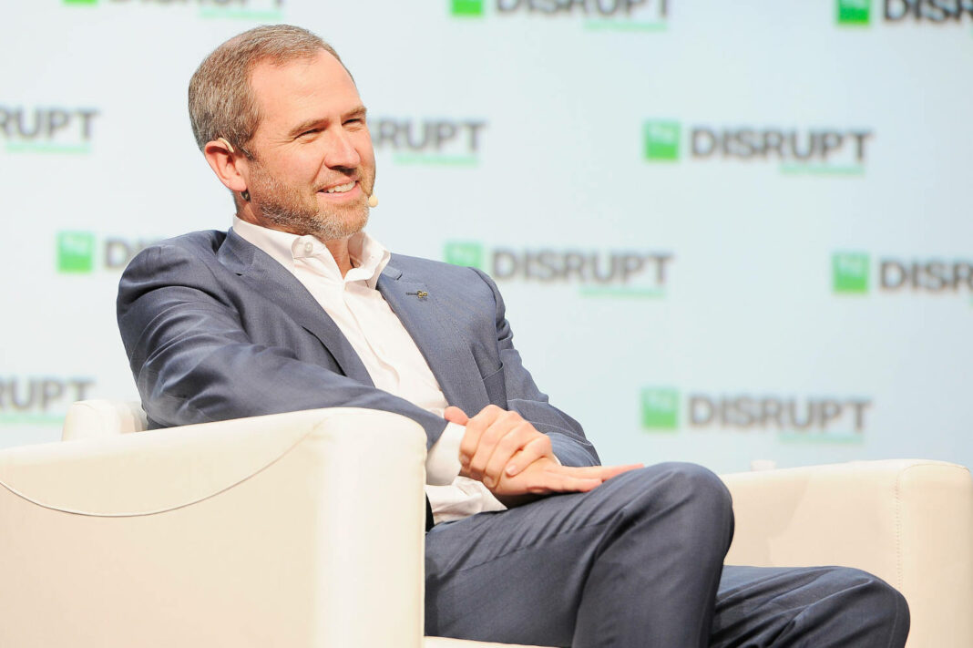 Ripple CEO Brad Garlinghouse speaks onstage during Day 1 of TechCrunch Disrupt SF 2018