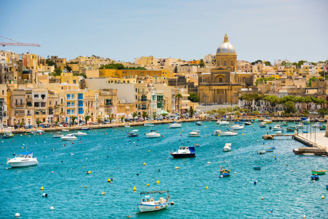 The bay near Valletta in Malta