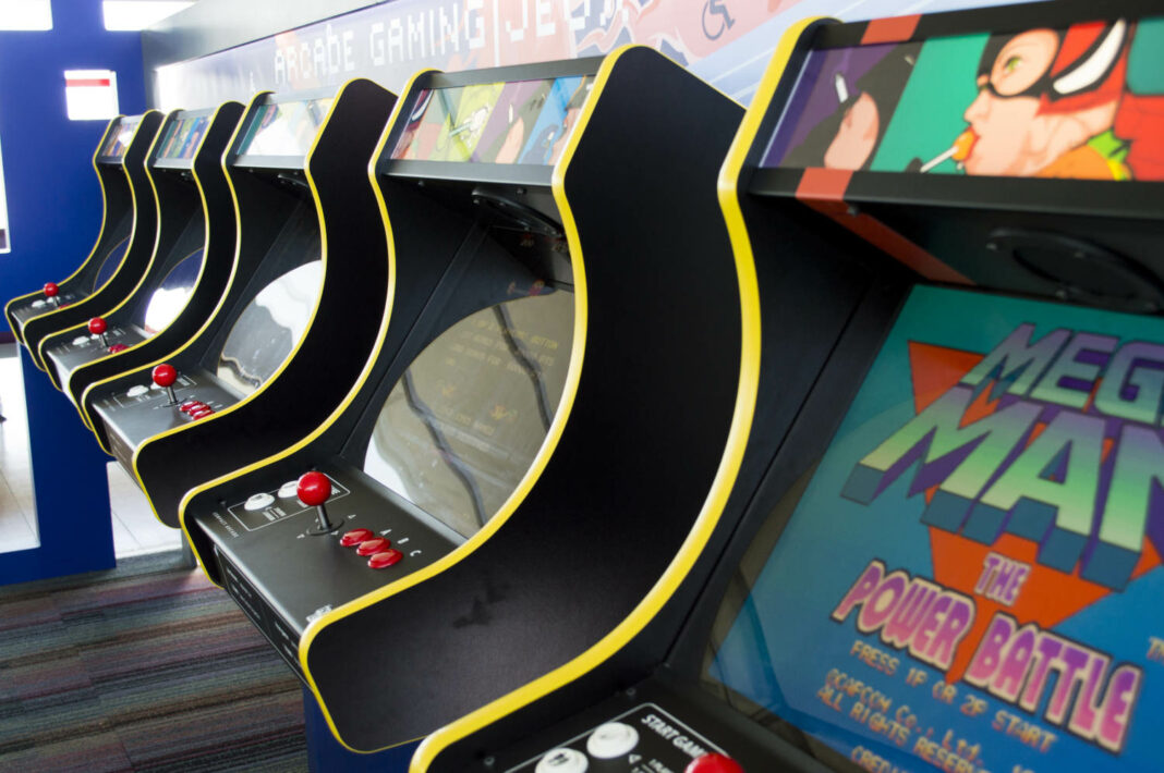 Game arcades at Charles de Gaulle