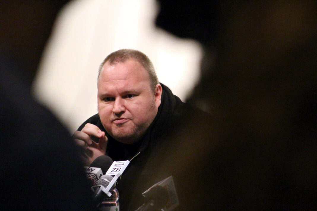 Kim Dotcom at the Moment of Truth event at the Auckland Town Hall