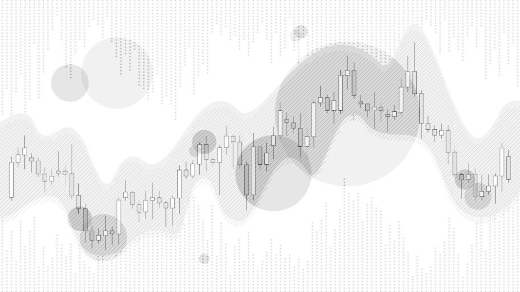 Trading candlestick chart