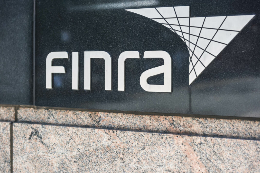 Sign on the building of the Financial Industry Regulatory Authority