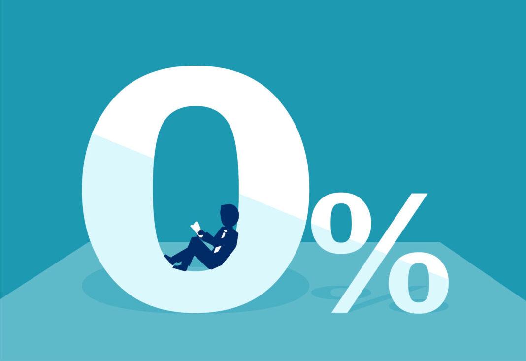 Zero percent illustration