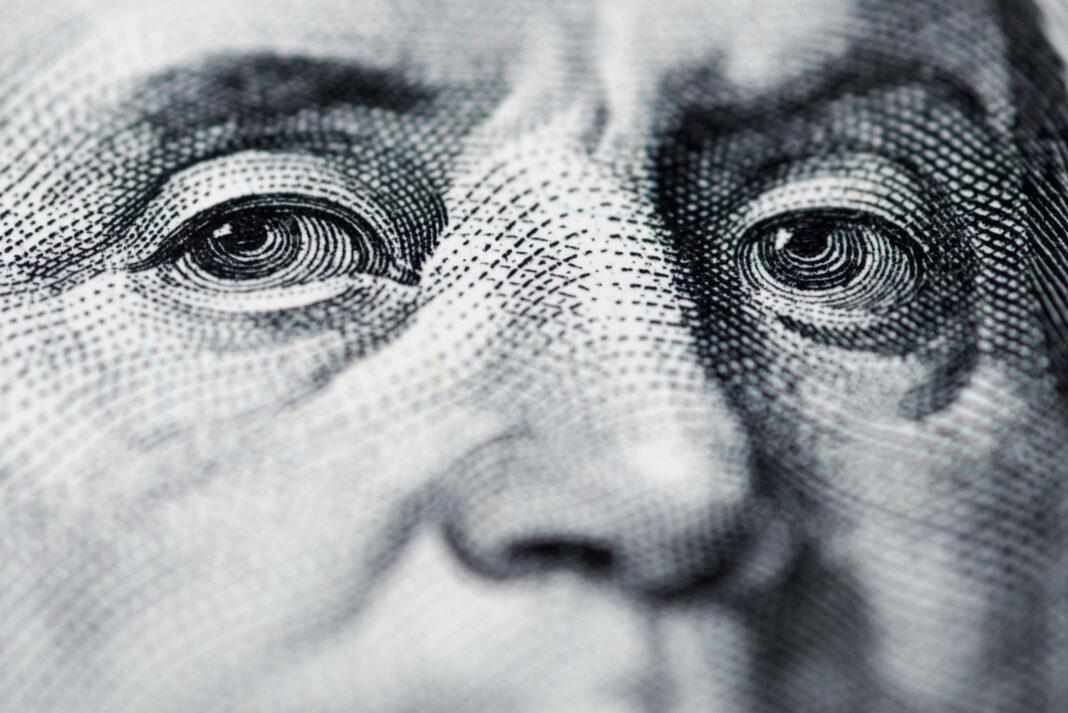 Benjamin Franklin on a US dollar bill