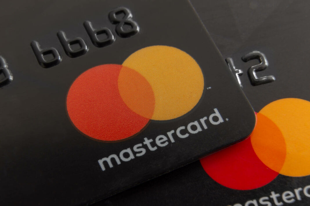 Mastercard closeup