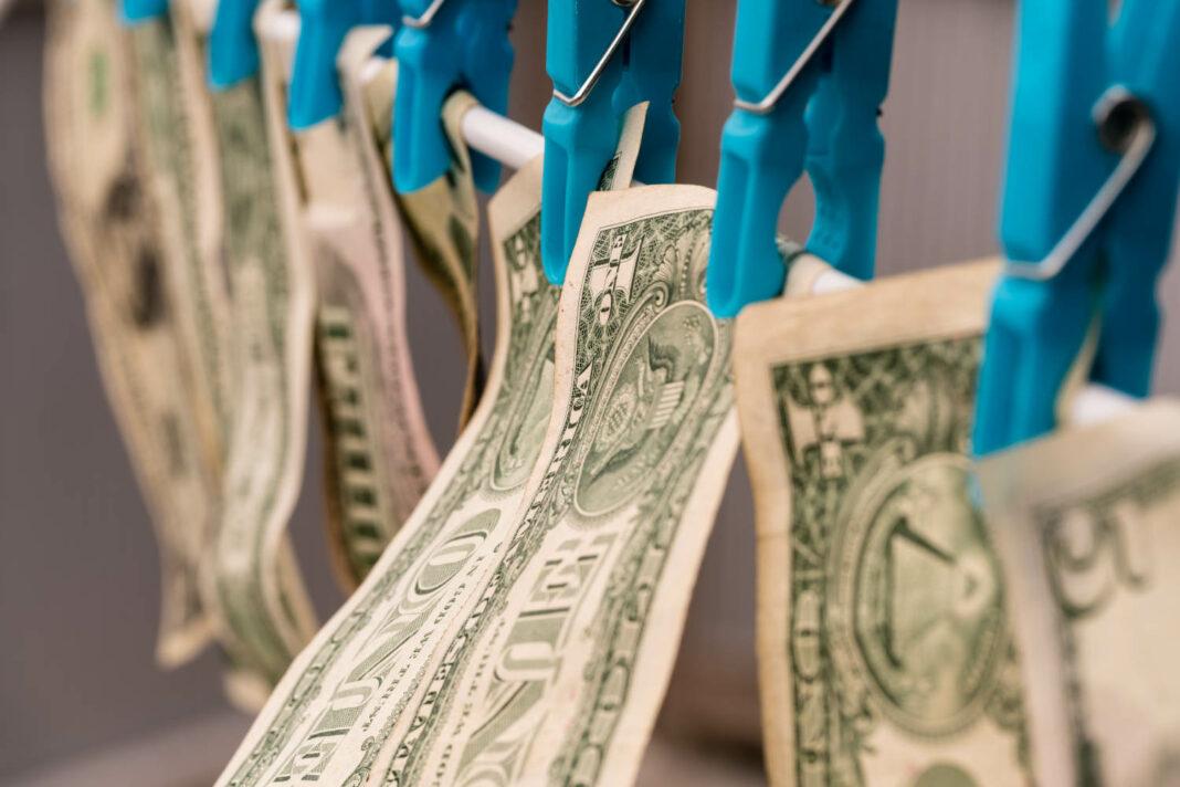US dollar bills money laundering