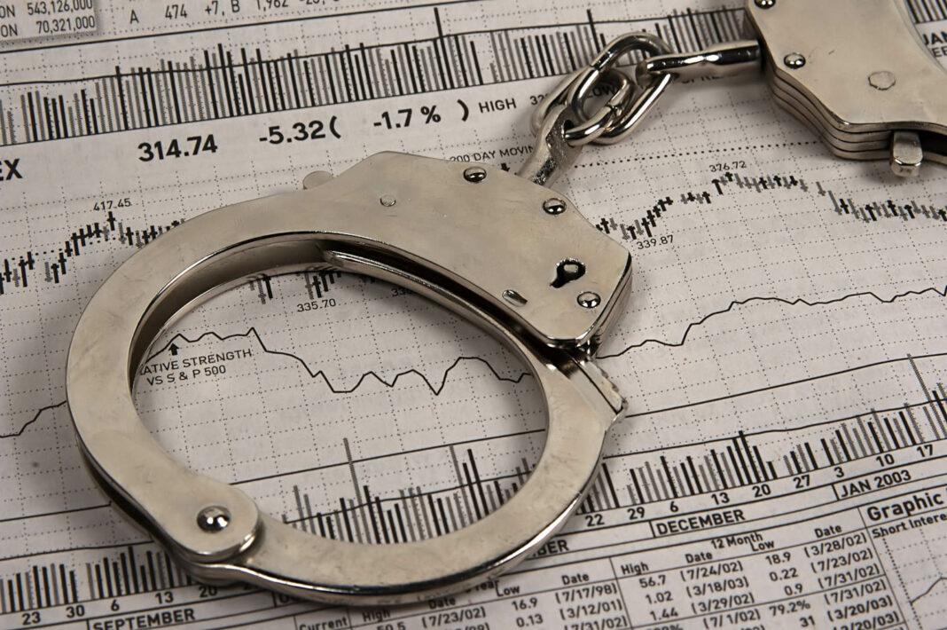 Handcuffs over financial market paper