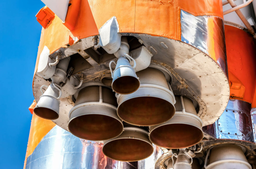 Rocket engine closeup